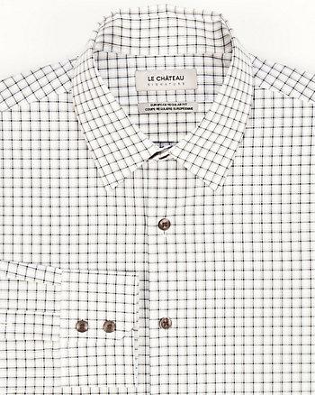 Check Print Cotton Slim Fit Shirt