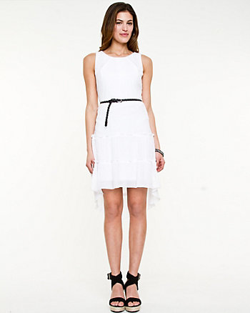 Ghost Gauze High-Low Dress