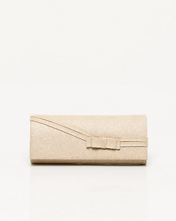 Glitter Bow Embellished Clutch