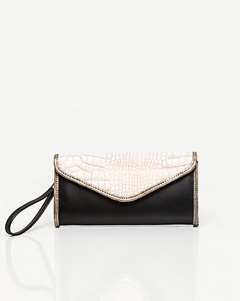Mixed Media Flapover Clutch