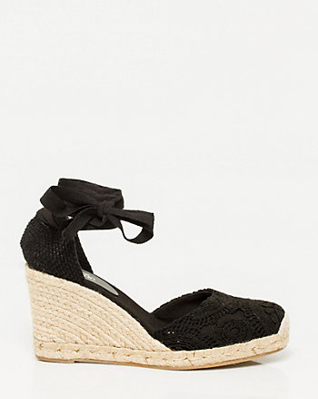 Crochet Wedge Espadrille