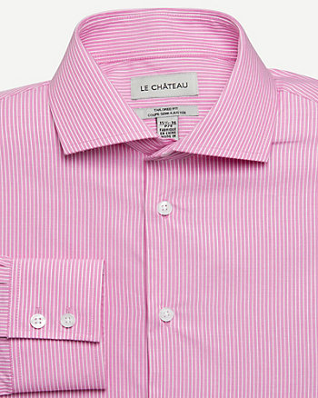 Stripe Cotton Tailored Fit Shirt