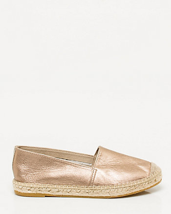 Spanish-Made Metallic Canvas Espadrille