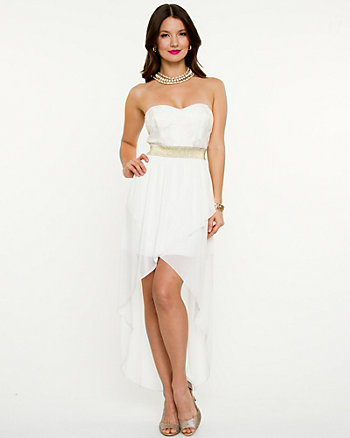 Lace Sweetheart High-low Dress