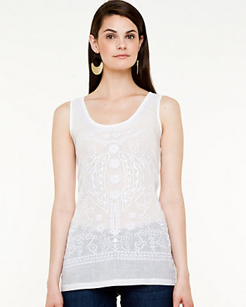 Challis Embroidered Top