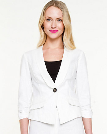 Linen Shawl Collar Blazer