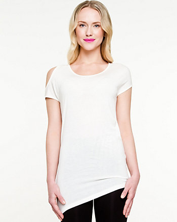 Jersey Knit Scoop Neck Tunic