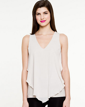 Knit & Woven Sleeveless Top