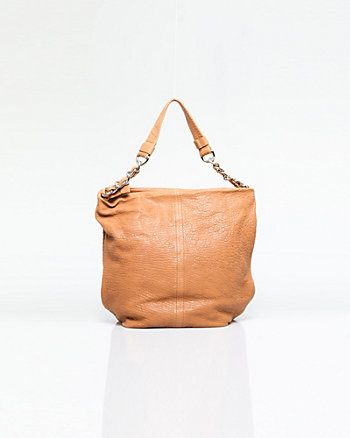 Pebbled Leather Hobo Bag