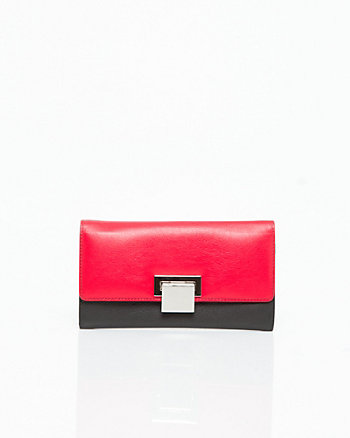 Leather Flapover Wallet
