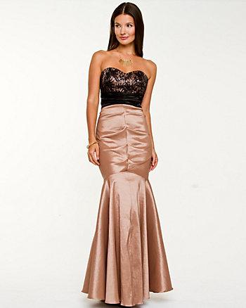 Taffeta Sweetheart Gown
