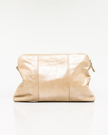 Metallic Suede Crossbody Bag