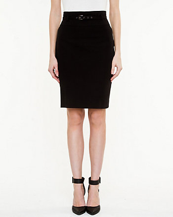 Cotton Gabardine Pencil Skirt