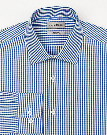 Cotton Check Print Shirt