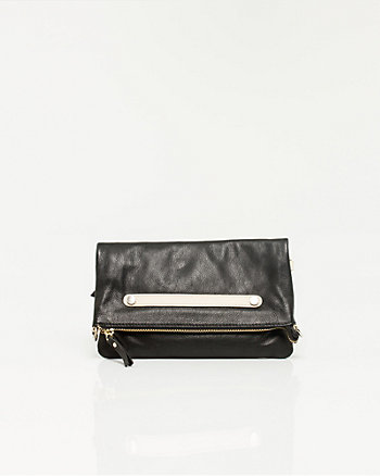 Leather Flapover Bag