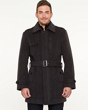 Cashmere Blend Crombie Coat