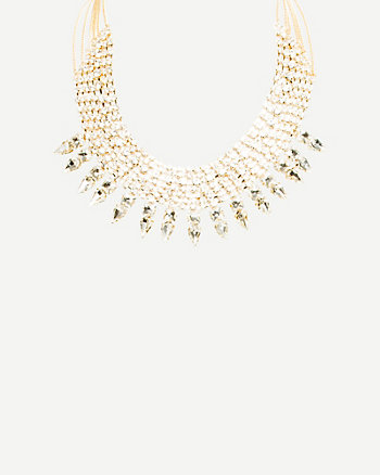 Gemstone Collarbone Necklace