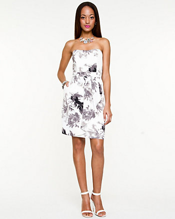 Floral Print Sweetheart Dress