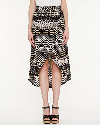 Challis Abstract Print Skirt