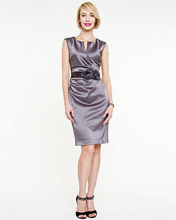 Satin V-neck Dress