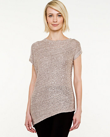 Sequin Short Sleeve Sweater