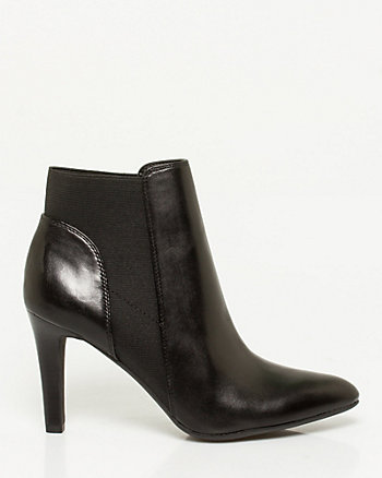 Leather Elasticated Pointy Bootie