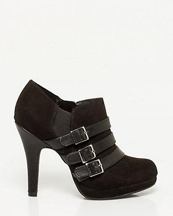 Leather-Like Platform Bootie
