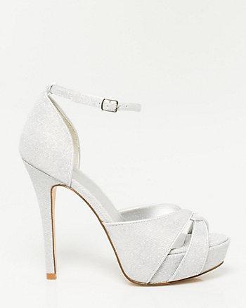 Glitter Mesh Platform Sandal