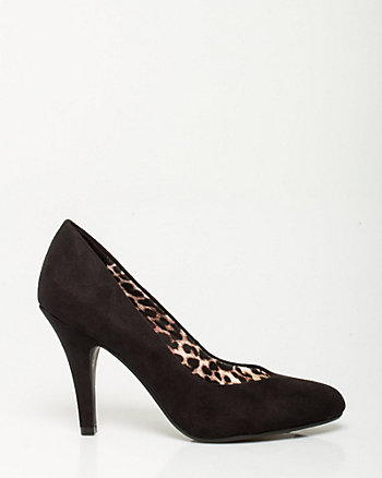 Microfibre Almond Toe Pump