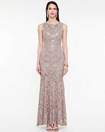 Sequin & Lace Mermaid Gown