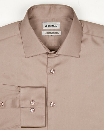 Cotton Sateen Euro Fit Shirt