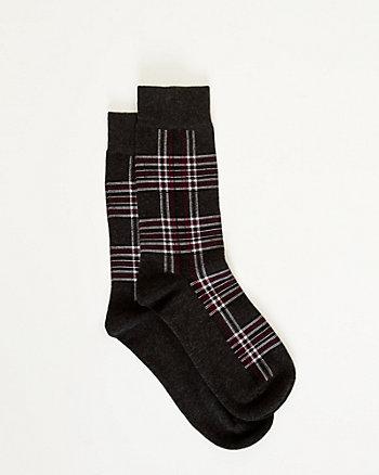 Check Print Socks