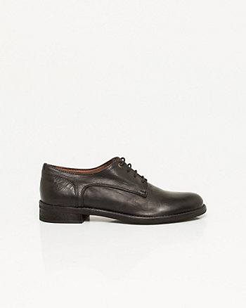 Italian-Made Leather Lace-up Oxford
