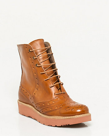 Italian-Made Leather Combat Boot