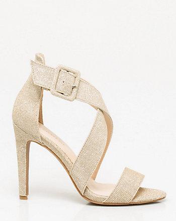 Lurex Strappy Sandal