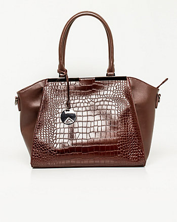 Leather-like Crocodile Embossed Tote