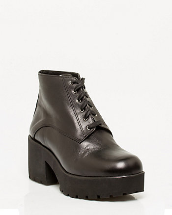 Italian-Made Leather Platform Oxford