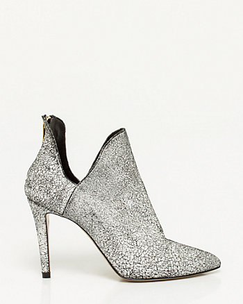 Italian-Made Cracked Leather Bootie