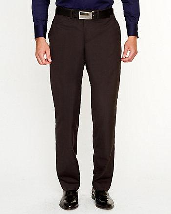 Wool Blend Check Pant