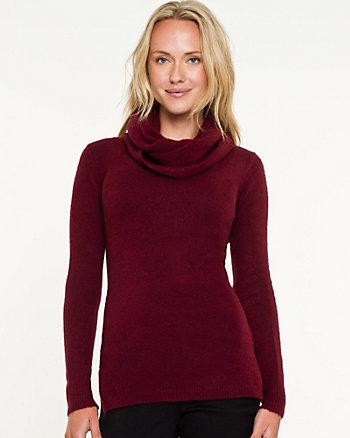 Bouclé Cowl Neck Sweater