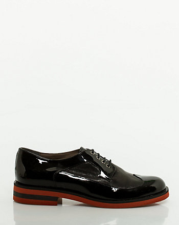 Italian-Made Patent Leather Brogue