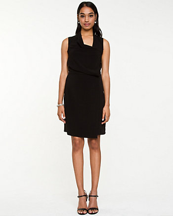 Crêpe de Chine Cowl Neck Dress