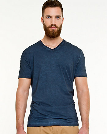 Knit V-neck T-shirt