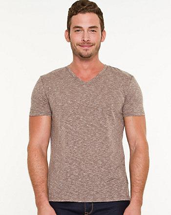 Knit V-Neck T-shirt