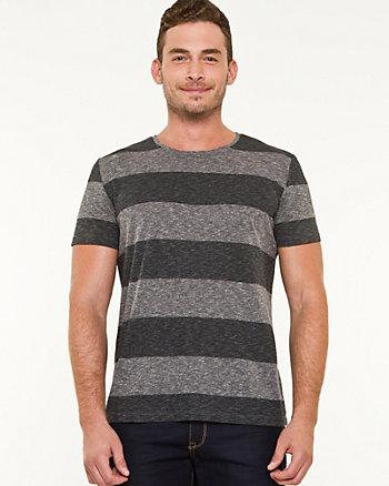 Stripe Cotton Blend T-shirt