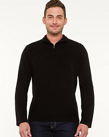 Wool Blend Funnel Neck Sweater