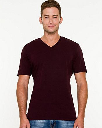 Stretch Jersey V-Neck T-Shirt