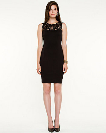 Ponte Knit Illusion Dress