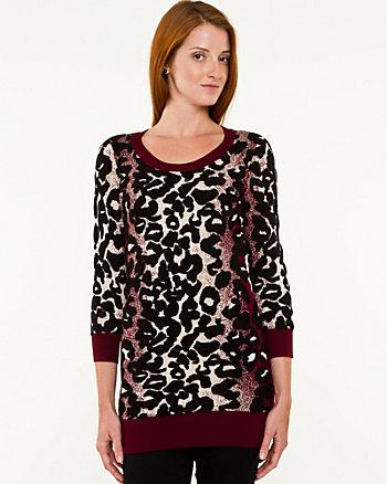 Knit Leopard Print Tunic