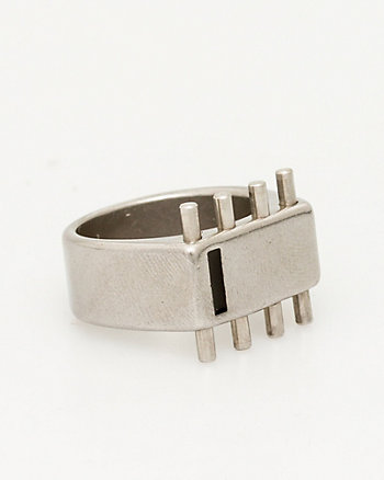 Stainless Steel & Leather Ring